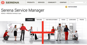 Serena Service Manager screenshot