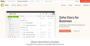 Zoho Docs screenshot