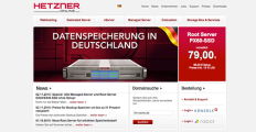 Hetzner Online screenshot