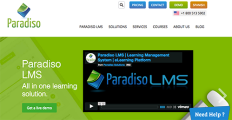Paradiso LMS screenshot