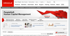 PeopleSoft screenshot