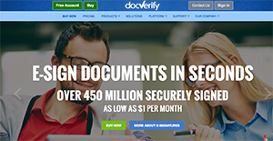 Logo of DocVerify