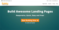 Sunny Landing Pages screenshot