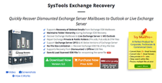 Logo of SysTools Exchange Recovery