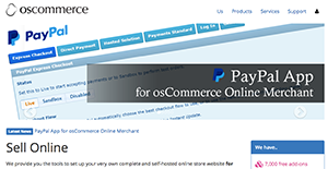 Logo of osCommerce