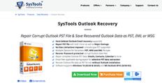 Logo of SysTools Outlook Recovery