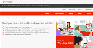 Logo of Worldpay Total Mobile