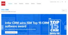 Infor CRM screenshot