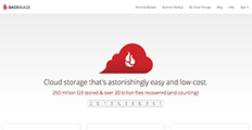 Backblaze screenshot