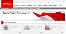 Oracle Fusion Procurement screenshot