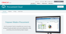 Oracle Procurement Cloud screenshot