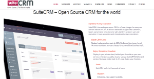 SuiteCRM screenshot