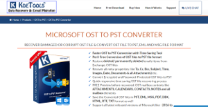 Logo of KDETools OST to PST Converter