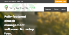 SimpleChurch CRM screenshot