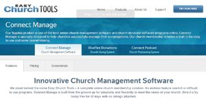 Logo of Easy Church Tools Connect Manage