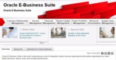 Oracle E-Business Suite screenshot
