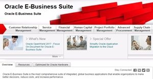 Logo of Oracle E-Business Suite