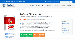 Logo of SysTools PDF Unlocker