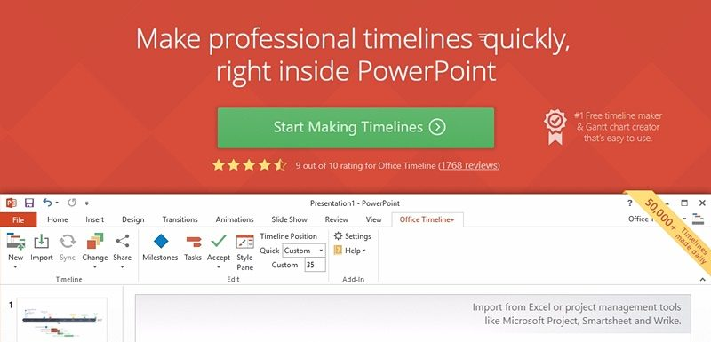 office timeline is a multi awarded and highly ranked application and is currently among our top 10 visual project management software solutions