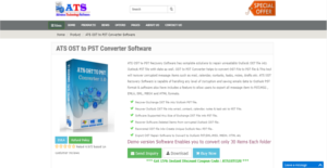 Logo of ATS OST to PST Converter