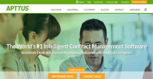 Logo of Apttus Contract Management