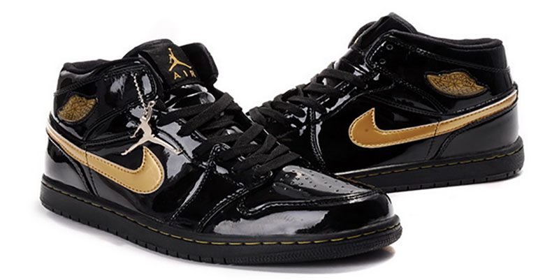This pair of Air Jordans was released in 2003 and was among the few  editions to be clad in leather. This patent leather gives the sneakers a  glossy ...