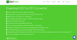 Logo of GainTools OST to PST Converter