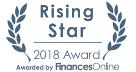 FinancesOnline Rising star award