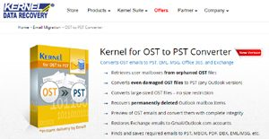 Logo of Kernel for OST to PST Converter