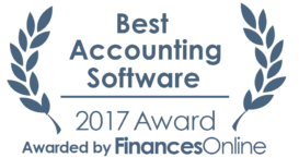 This award is given to the best product in our Accounting Software category. It highlights its superior quality and underlines the fact that it's a leader on the market.