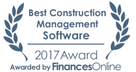 This award is given to the best product in our Construction Management Software category. It highlights its superior quality and underlines the fact that it's a leader on the market.