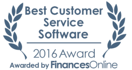 This award is given to the best product in our Customer Service Software category. It highlights its superior quality and underlines the fact that it's a leader on the market.