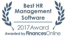 This award is given to the best product in our HR Management Software category. It highlights its superior quality and underlines the fact that it's a leader on the market.