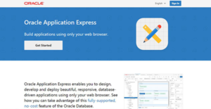 Logo of Oracle Application Express