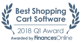 This award is given to the best product in our Shopping Cart Software category. It highlights its superior quality and underlines the fact that it's a leader on the market.