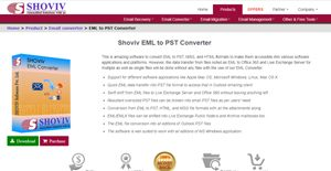 Logo of Shoviv EML to PST Using EML Converter