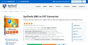 Logo of SysTools DBX to PST Converter
