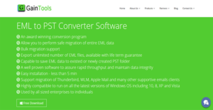 Logo of GainTools EML to PST Converter