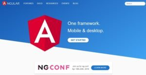 Logo of Angular