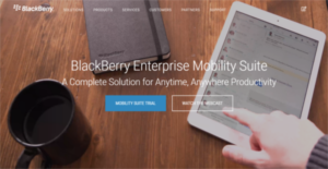 Logo of BlackBerry Enterprise Mobility Suite