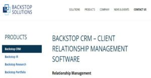Logo of BackStop CRM
