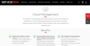Logo of ServiceNow Cloud Management