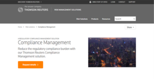 Logo of Thomson Reuters Compliance