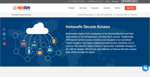Logo of InstaSafe Secure Access