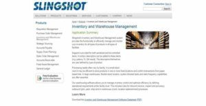 Logo of Slingshot Inventory and Warehouse Management