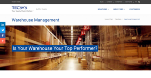 Logo of TECSYS Warehouse Management System