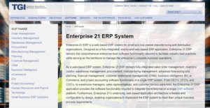 Logo of Enterprise 21 ERP