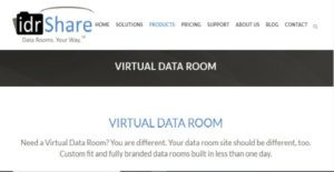 Logo of idrShare Virtual Data Room