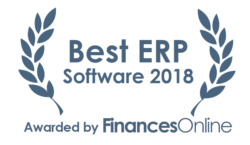 This award is given to the best product in our ERP software category. It highlights its superior quality and underlines the fact that it's a leader on the market.