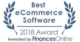 This award is given to the best product in our eCommerce software category. It highlights its superior quality and underlines the fact that it's a leader on the market.
